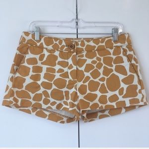 J Crew City Fit Giraffe Print Shorts